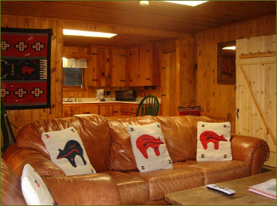 three bedroom ski in ski out cabin Red River NM
